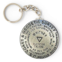 Mount Whitney Summit Benchmark Keychain