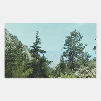 Mount Whitney Trail View #5- by Fern Savannah Rectangular Sticker