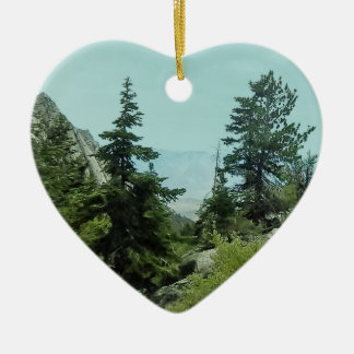 Mount Whitney Trail View Heart Ornament #5