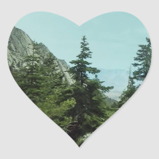 Mount Whitney Trail View Heart Stickers#5