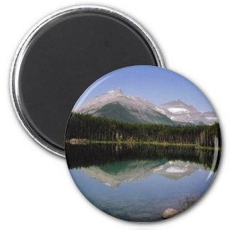 Mountain 2 Inch Round Magnet
