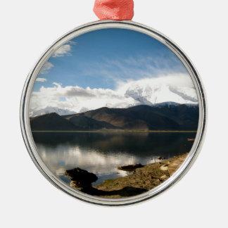 mountain-336 metal ornament
