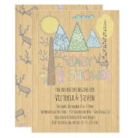 Mountain Adventure Baby Shower Watercolor forest Invitation