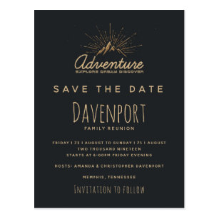 Family Reunion Save The Date Postcards Zazzle