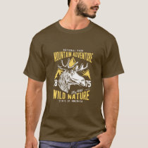 Mountain Adventure Vintage Style Hunt Theme T-Shirt