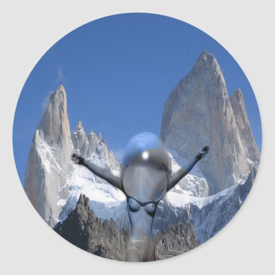 Mountain air classic round sticker