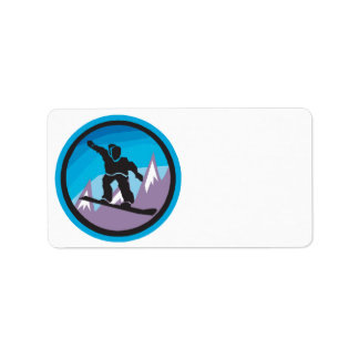 Mountain Air Personalized Address Label