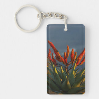 Mountain Aloe (Aloe Marlothii Berger) Rectangular Acrylic Keychains