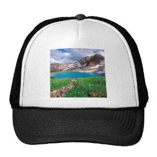 Mountain Alpine Tranquility Olympic Park Mesh Hat