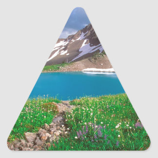 Mountain Alpine Tranquility Olympic Park Triangle Sticker