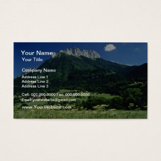 Mountain, Alps, France flowers Business Card