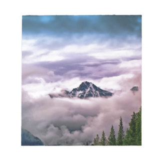 Mountain and clouds. Beautiful nature scenery Notepad