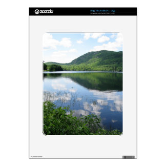 Mountain and Clouds Reflect on Rockland Watershed Decal For The iPad