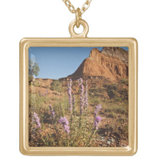 Mountain and Gayfeather Square Pendant Necklace