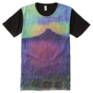 Mountain and sea All-Over-Print T-Shirt