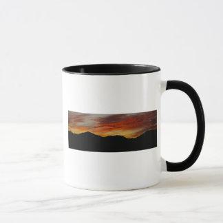 Mountain and sunset mug