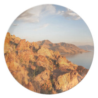 Mountain Antelope Island Sunset Party Plate