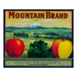 Mountain Apple Crate LabelHood River, OR Poster