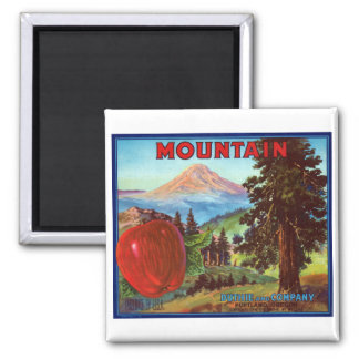 Mountain Apples 2 Inch Square Magnet