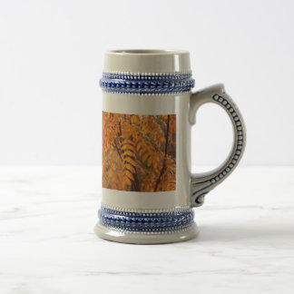 Mountain Ash Leaves - Autumn Beer Stein