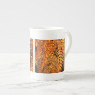Mountain Ash Leaves - Autumn Porcelain Mug