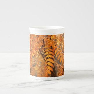 Mountain Ash Leaves - Autumn Bone China Mug