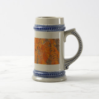Mountain Ash Leaves in Autumn Beer Stein