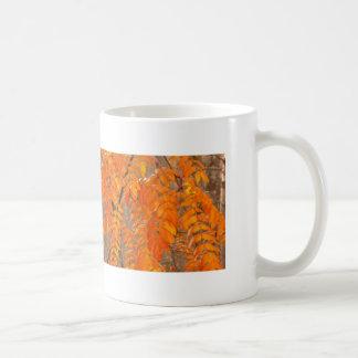 Mountain Ash Leaves in Autumn Mugs
