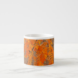 Mountain Ash Leaves in Autumn Espresso Cup