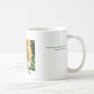 Mountain Aster goes to the Butterflies, Happy S... Classic White Coffee Mug