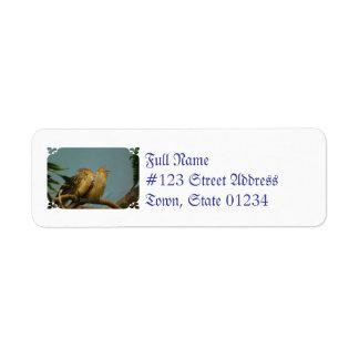 Mountain Bamboo Partridge Custom Return Address Label