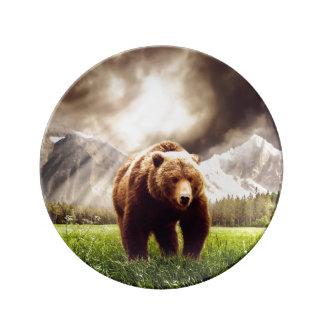 Mountain Bear Dinner Plate