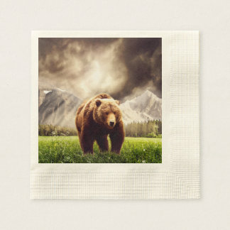 Mountain Bear Paper Napkin