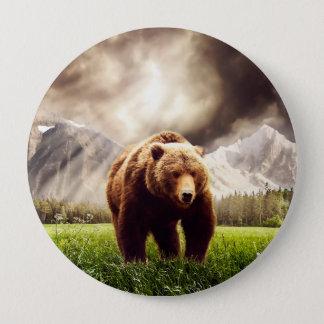 Mountain Bear Pinback Button