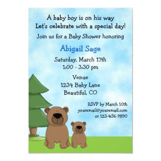 Mountain Bears Baby Shower Invitation for Boys