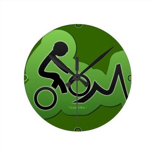 Mountain Bicycle Biker Wall Clock