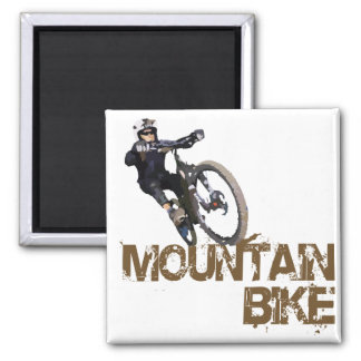 Mountain Bike 2 Inch Square Magnet
