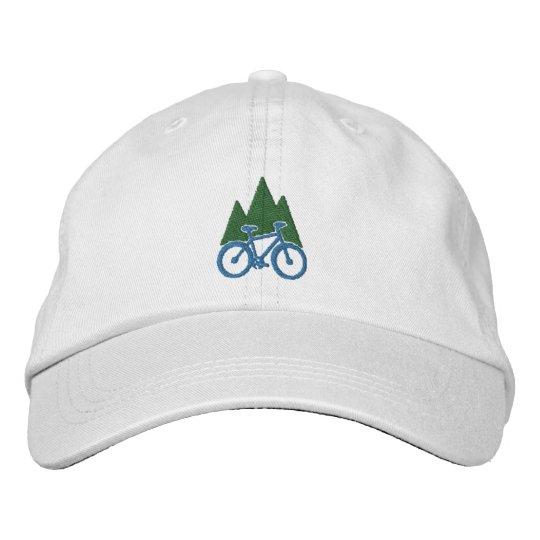 f60495debbffe5 Mountain Bike And Mountains Embroidered Baseball Cap | Zazzle.com