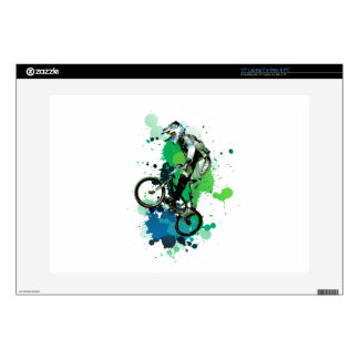 Mountain bike art laptop skins
