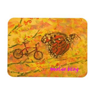 mountain bike art magnet
