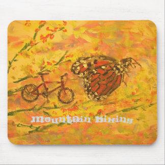 mountain bike art mouse pad