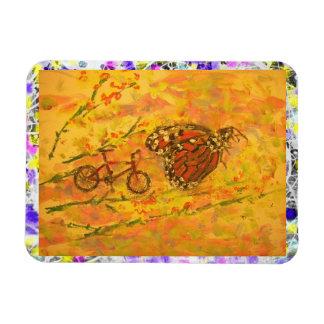 mountain bike art rectangular photo magnet