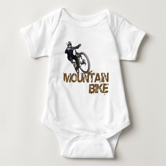 Mountain Bike Baby Bodysuit