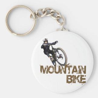 Mountain Bike Basic Round Button Keychain