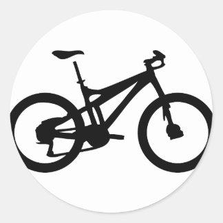Mountain Bike bicylce pushbike Classic Round Sticker