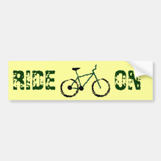 Mountain Bike Bumper Sticker