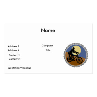 mountain bike chain sprocket design business cards