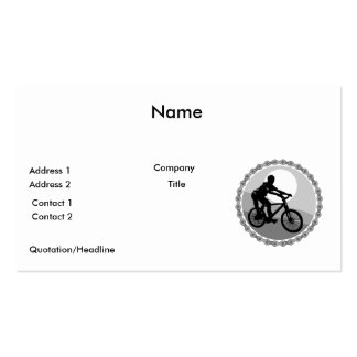 mountain bike chain sprocket grayscale business cards