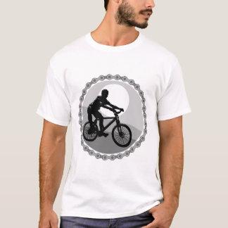 mountain bike chain sprocket grayscale T-Shirt