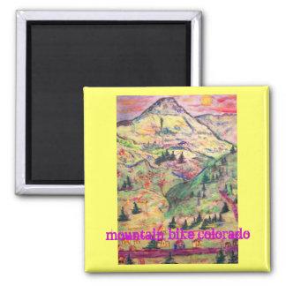 mountain bike colorado 2 inch square magnet